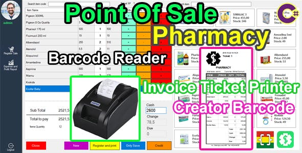 Point Of Sale (POS) - Pharmacy -  C# MySQL