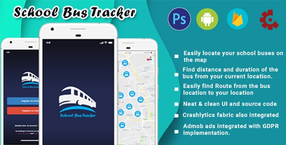 School Bus Tracker Android [Firebase] - CodeCanyon Item for Sale