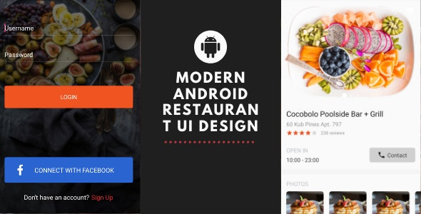 modern android restaurant ui design - CodeCanyon Item for Sale