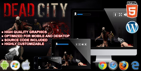 Dead City - HTML5 Shooting Game - CodeCanyon Item for Sale