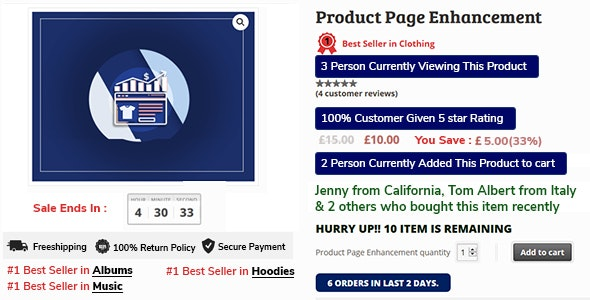 Woocommerce Sale Booster - Product Page Enhancement - CodeCanyon Item for Sale
