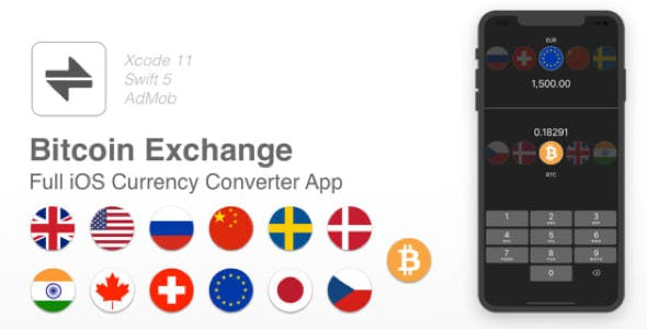 Bitcoin Currency Converter - Full iOS app