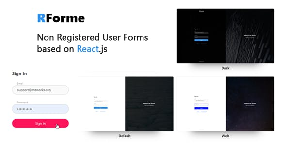 RForme - React Non Registered Forms