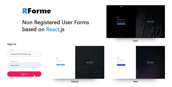 RForme - React Non Registered Forms - CodeCanyon Item for Sale