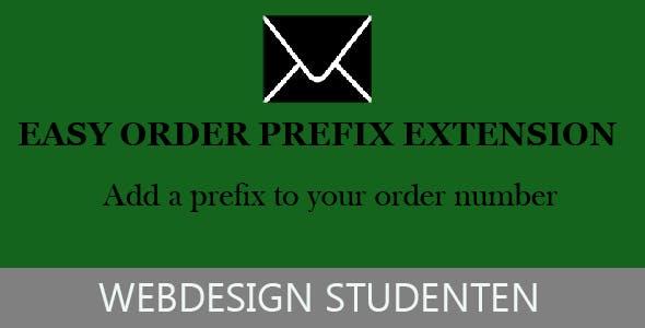 Easy order prefix