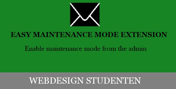 Maintenance mode page