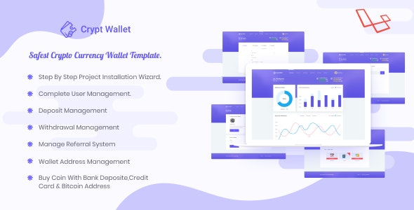 CryptWallet - Crypto Currency Web Wallet Pro - CodeCanyon Item for Sale