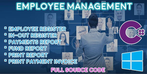 Employee Management - HRM - C# MySQL