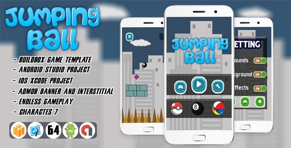 JUMPING BALL WITH ADMOB - ANDROID STUDIO - CodeCanyon Item for Sale