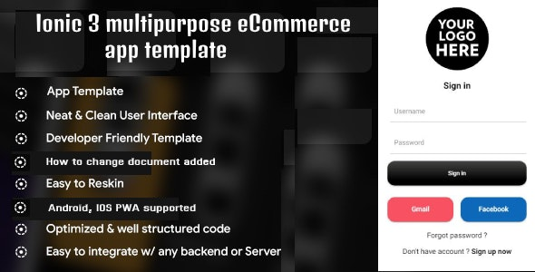 Ionic 3 multipurpose eCommerce app templates (Android - IOS) - CodeCanyon Item for Sale