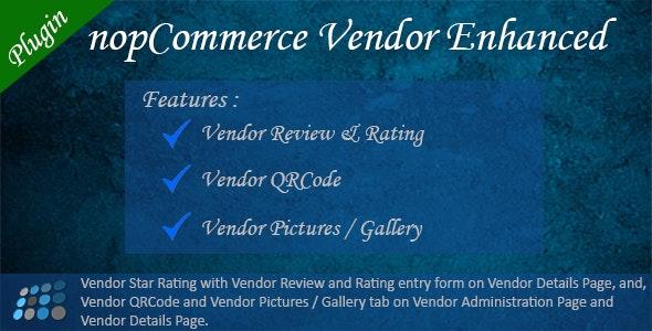 Vendor Enhanced nopCommerce Plugin - CodeCanyon Item for Sale