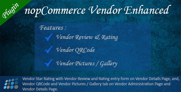 Vendor Enhanced nopCommerce Plugin