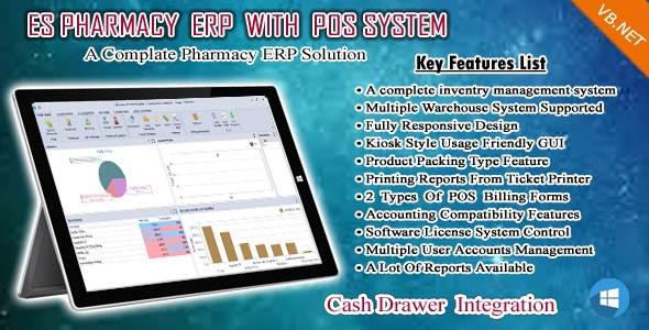ES Pharmacy ERP ,POS , Accounts , Inventory and Warehouse Management - CodeCanyon Item for Sale