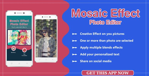 Mosaic Photo Effects , photo editor app source code