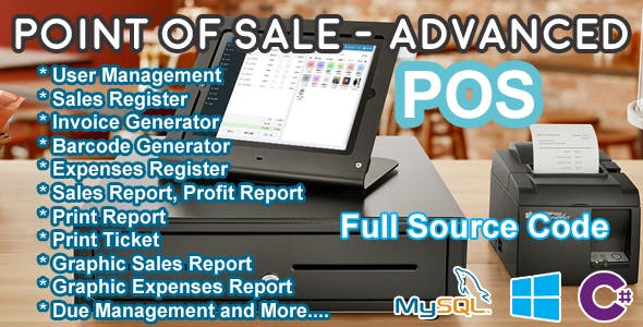 Point Of Sale (POS) - Advanced - C# MySQL