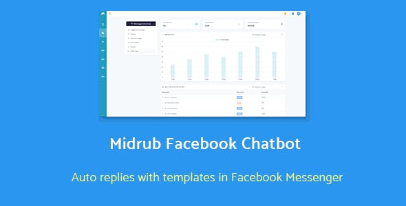 Midrub Facebook Chatbot - automatize quick replies with templates in messenger
