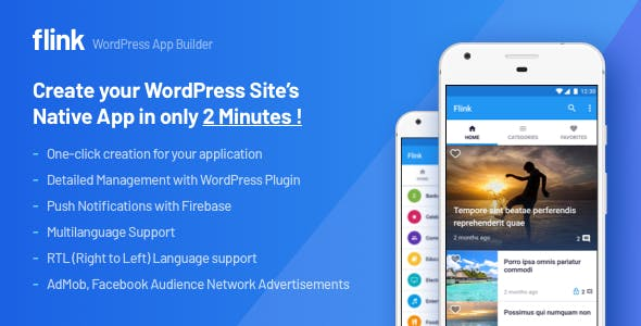 Flink - WordPress App Builder (Ultimate Admin Panel + Automatic Native App Build)