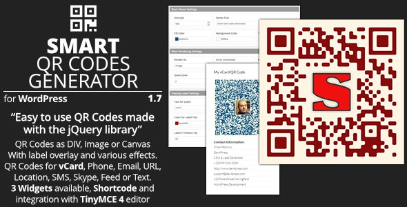Smart Qr Codes Generator Plugin For Wordpress By Gdragon