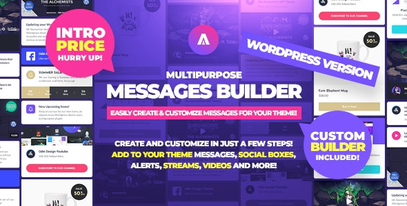 Asgard - Multipurpose Messages and Social Builder Plugin - CodeCanyon Item for Sale