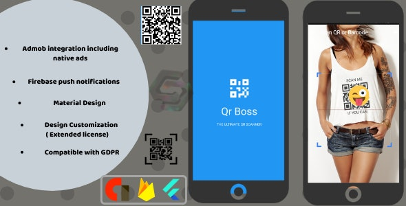 Qr code and barcode  scanner generator android + ios - CodeCanyon Item for Sale