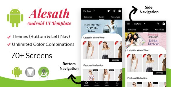Alesath - Native Android Ecommerce UI Template