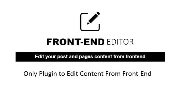WP Quick Front-end Editor - WordPress Plugin