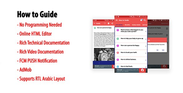 How to Guide - Native Android Multi-category Guidebook App | AdMob | FCM PUSH Notification