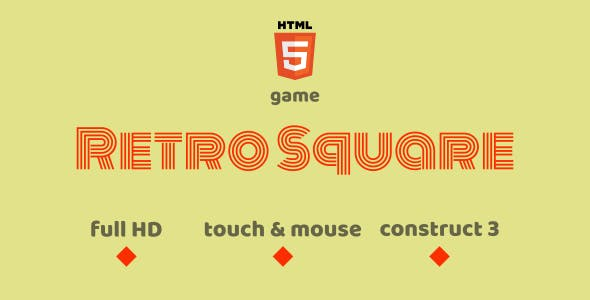 Retro Square - HTML5 Game (Construct3)