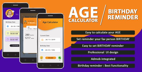 Birthday Reminder & Age Calculator