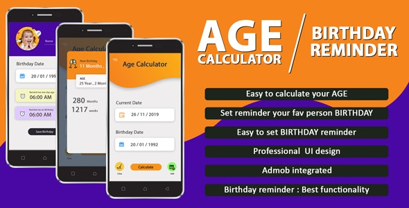 Birthday Reminder & Age Calculator - CodeCanyon Item for Sale