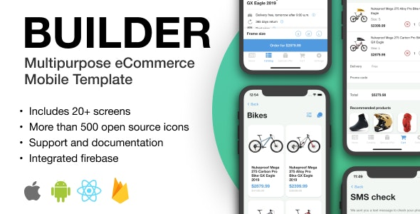 BUILDER - Multipurpose eCommerce Mobile Template - CodeCanyon Item for Sale