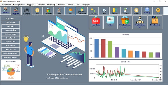 GST Enabled Billing Software With Accounts for Retail and Wholesale Shops - CodeCanyon Item for Sale