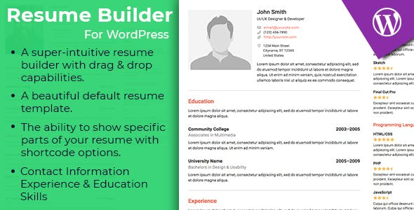 WordPress Resume Builder