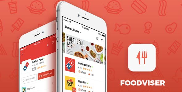Foodviser - Food Ordering Android App Template