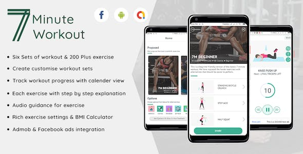 Fitness - 7 Minute workout Android Full application