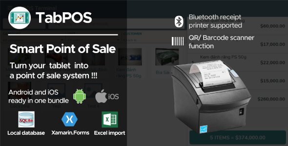 Tab Point Of Sale Application Android + iOS