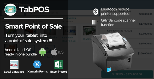 Tab Point Of Sale Application Android + iOS - CodeCanyon Item for Sale