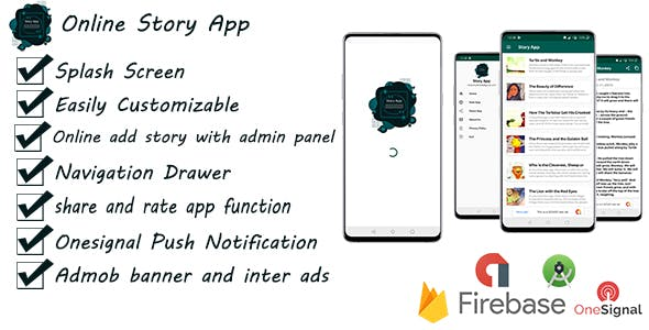 Android Online Story App With Onesignal and Admob