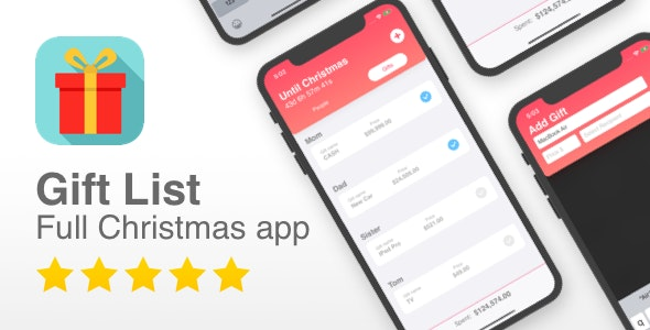 Gift List - Full Christmas list and countdown app - CodeCanyon Item for Sale