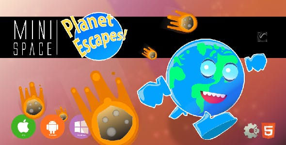 Planet Escapes! • HTML5 + C2 Game • Mini Space Series