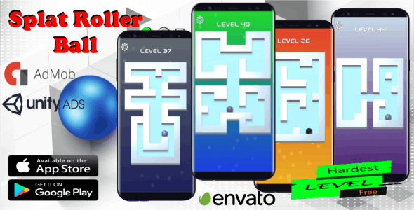 Splat Roller Ball - Unity 3D Game Template for Android & IOS Source Code