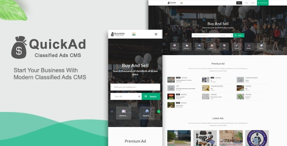 Modern Quickad Classified Template - CodeCanyon Item for Sale