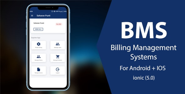 BMS : Billing Management System, Ionic 5 Android + IOS Ready to use app - CodeCanyon Item for Sale
