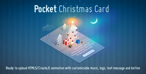 Pocket Christmas Card - Animated Creative HTML5 Template