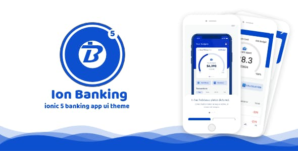 Ion Banking - ionic 5 banking app ui theme