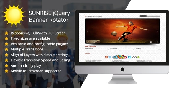 SUNRISE jQuery Banner Rotator - CodeCanyon Item for Sale
