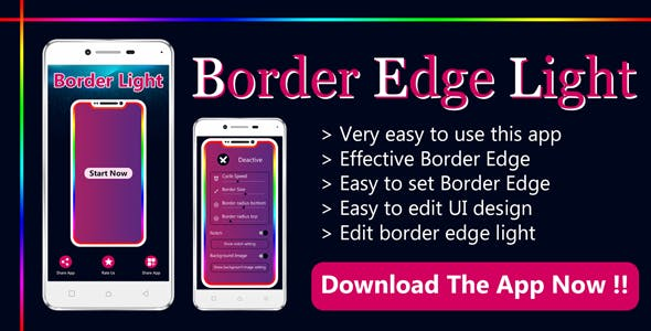 Edge Border light , Live wallpaper