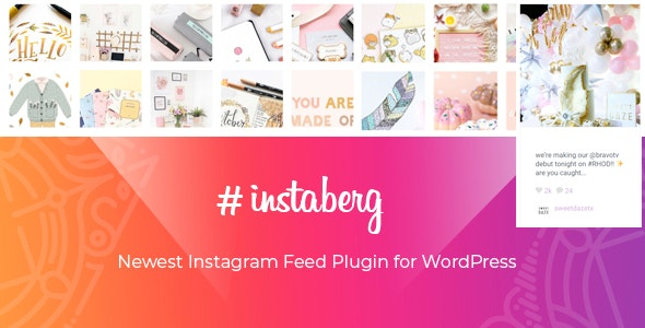 Instaberg - Instagram Feed Gallery - Gutenberg Block - CodeCanyon Item for Sale
