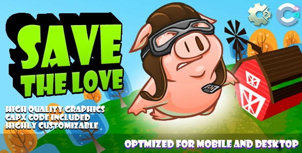 Save The Love (C2,C3,HTML5) Game.