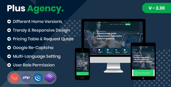 PlusAgency - Multipurpose Website CMS & Business Agency Management System